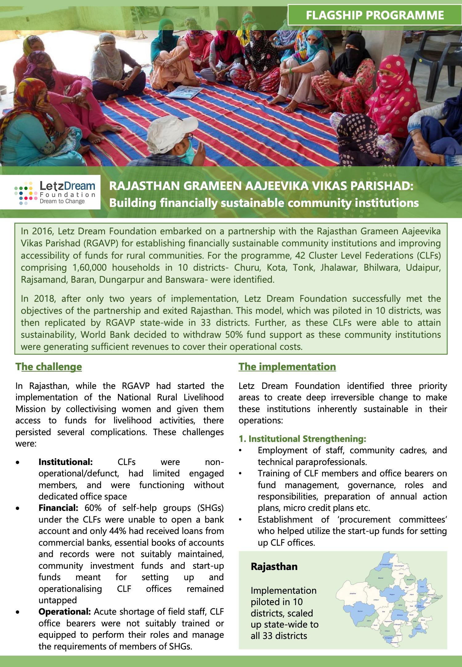 v2_Rajasthan Grameen Aajeevika Vikas Parishad_At a Glance Document